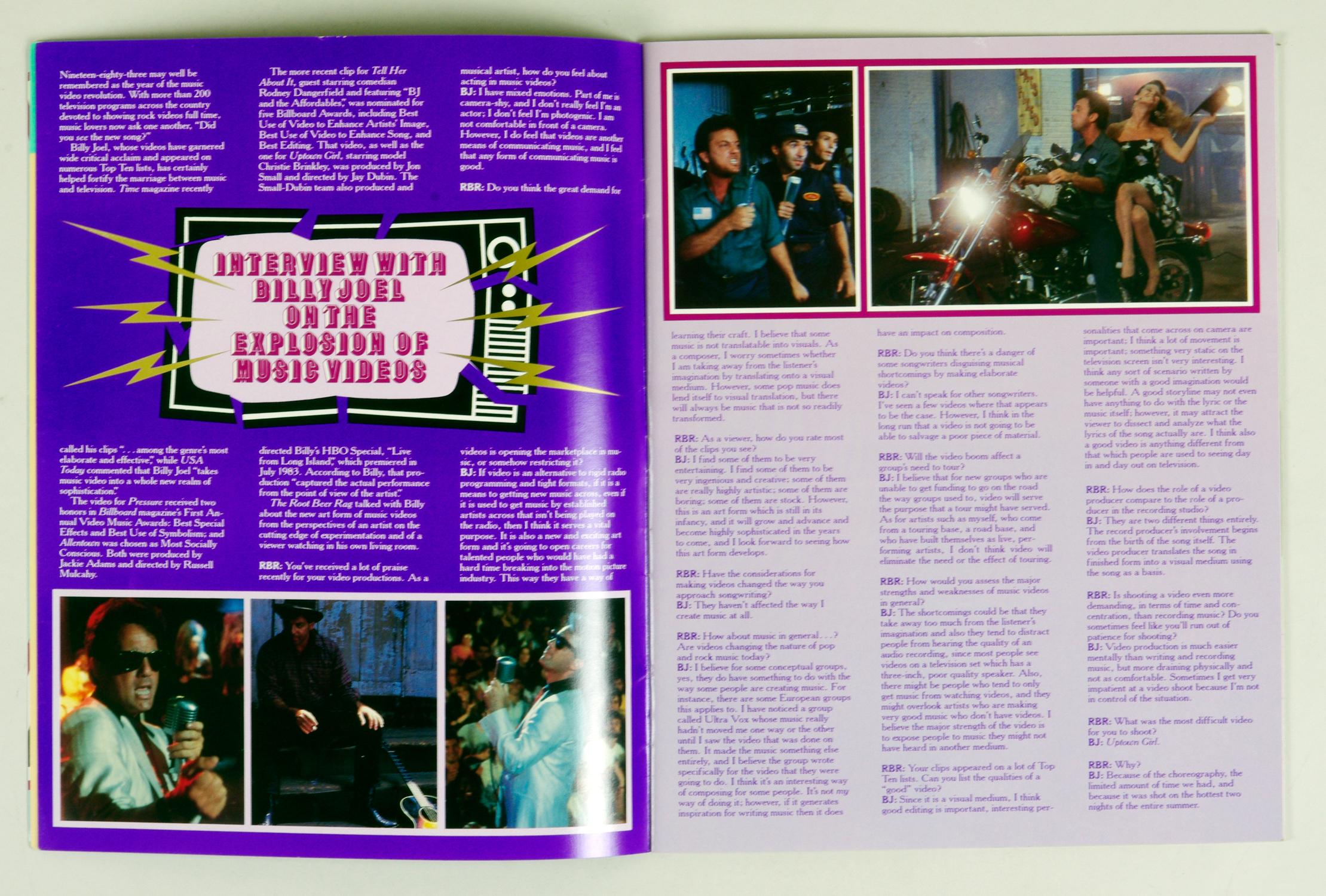 Billy Joel 1984 A Innocent Man Tour Program Book