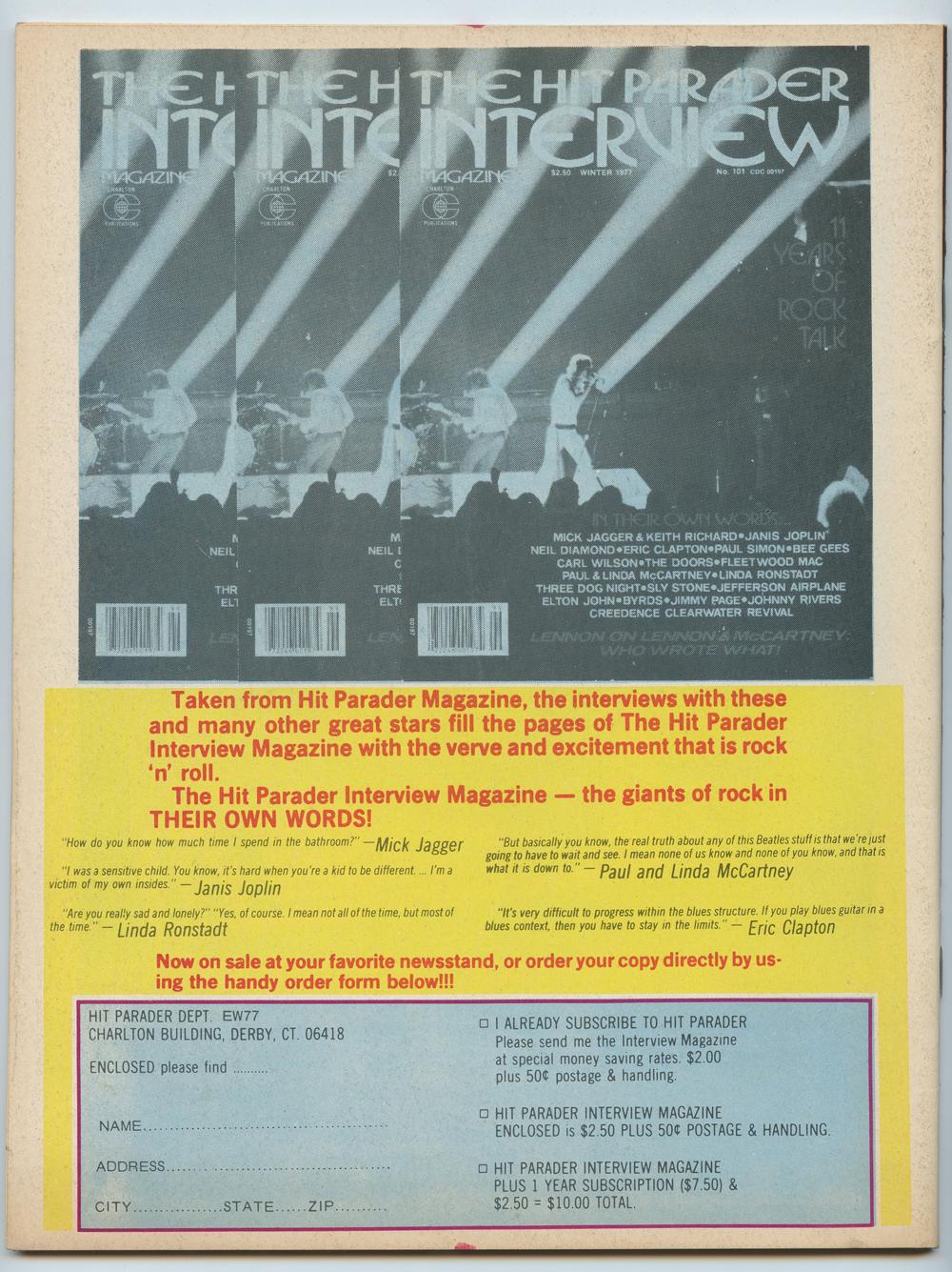 Elvis Presley Magazine Back Issue 1977 Song Hits Magazine's Tribute To Elvis