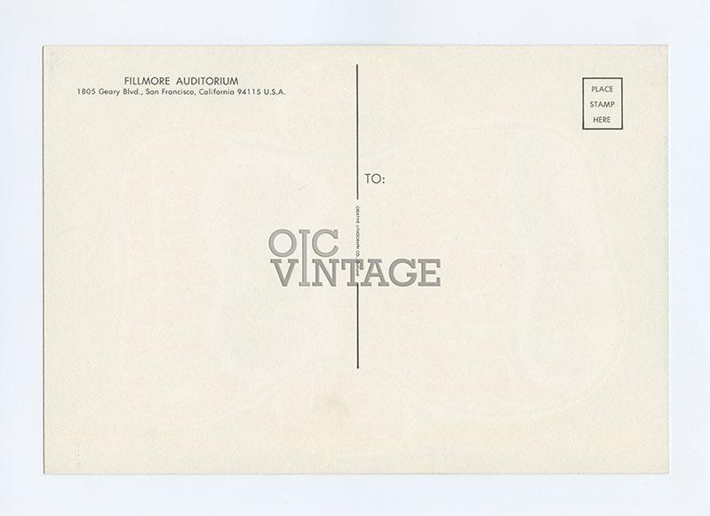 BG  23 Postcard Grateful Dead Jefferson Airplane 1966 Aug 12
