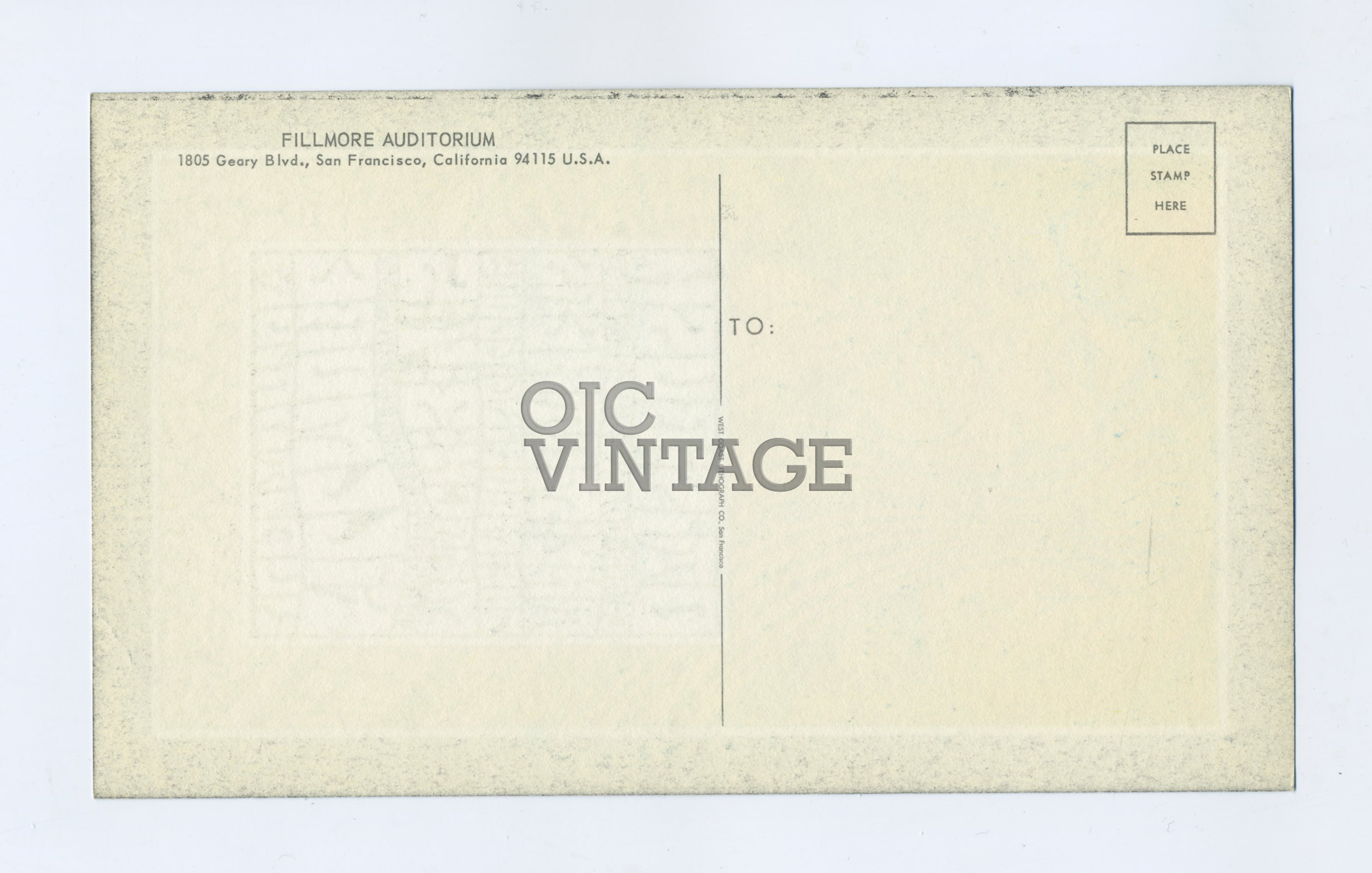 BG  53 Postcard Otis Rush The Mothers 1967 Mar 3