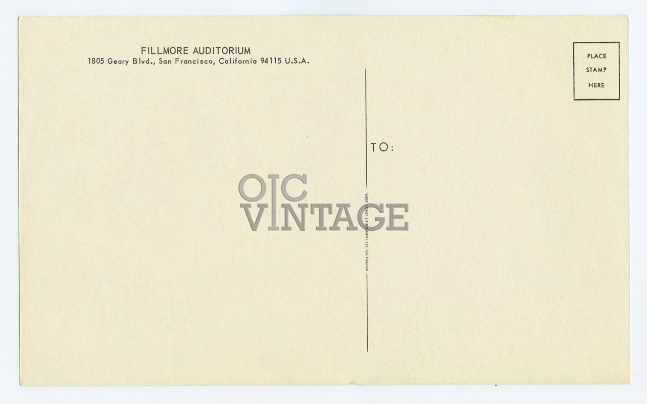 BG  18 Postcard Qiucksilver Messenger Service 1966 Jul 22