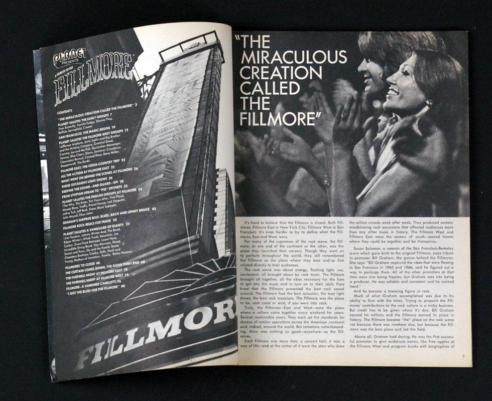 Bill Graham Fillmore Magazine 1971 Last days of Fillmore Collector Issue