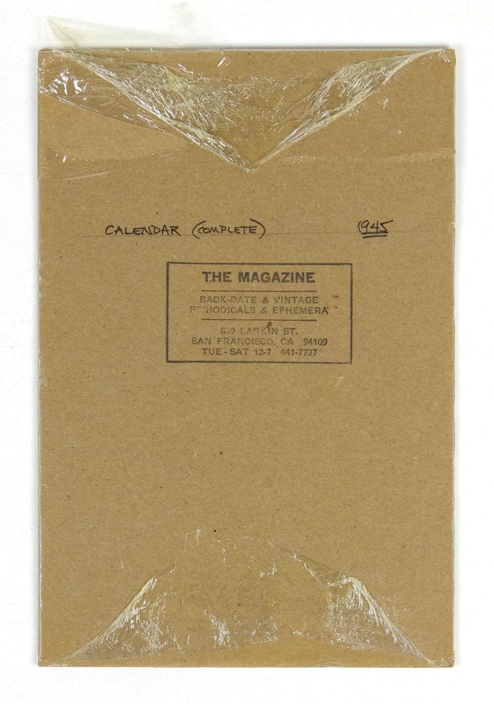 Cecelia Margret Meagher Coronet Magazine Cover Girl 1945 Vintage Calendar