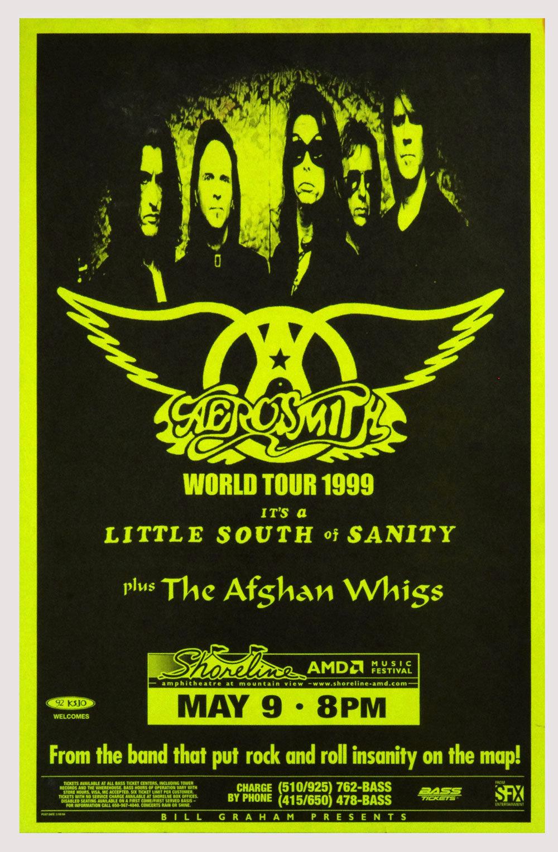 Aerosmith Poster 1999 May 9 World Tour Shoreline Amphitheatre