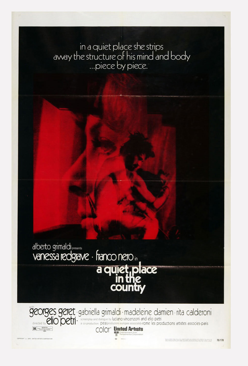 A Quiet Place in the Country Poster Movie Original Vintage 1970 Franco Nero
