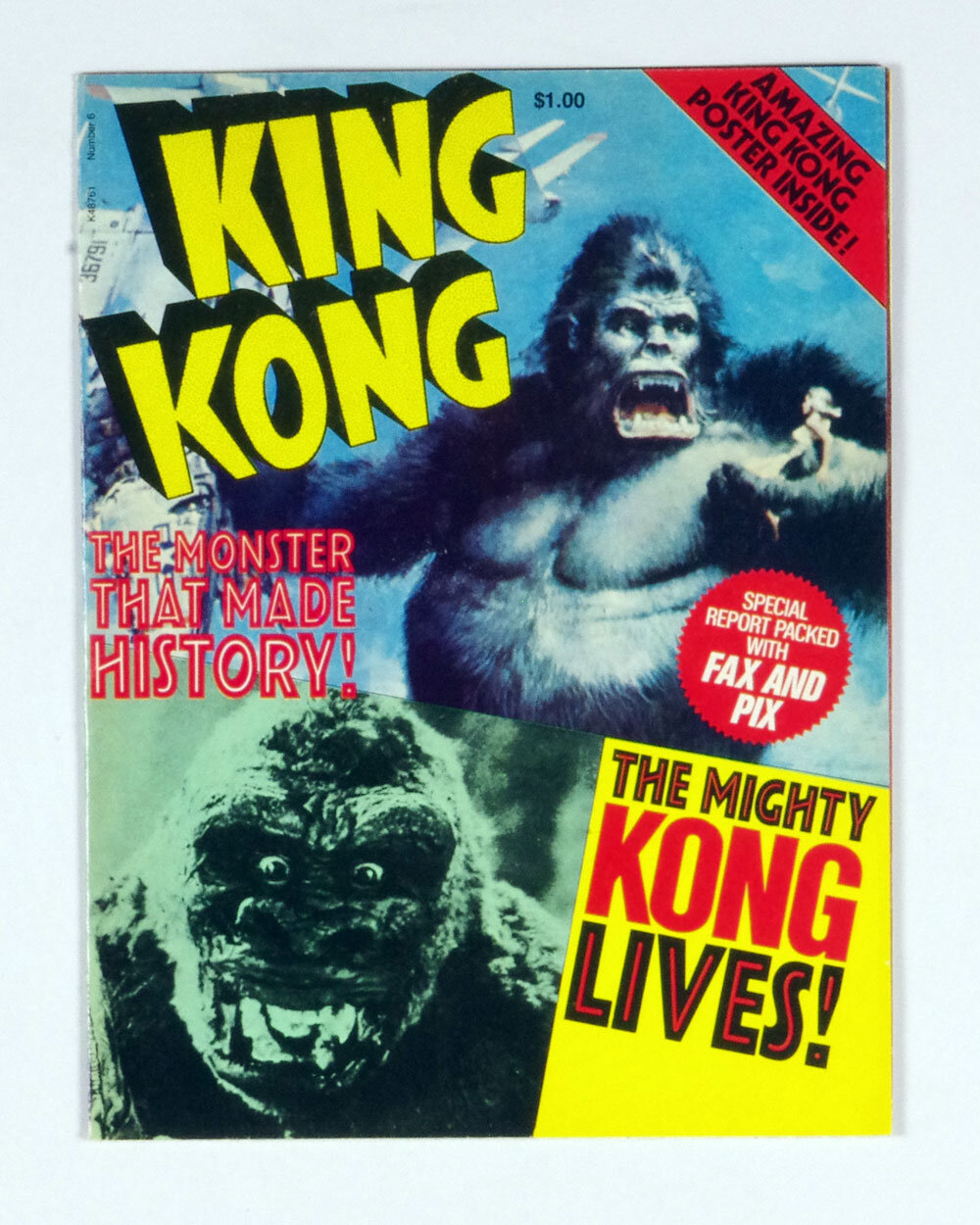 KING KONG Poster Magazine 1977 The Monster That Made History