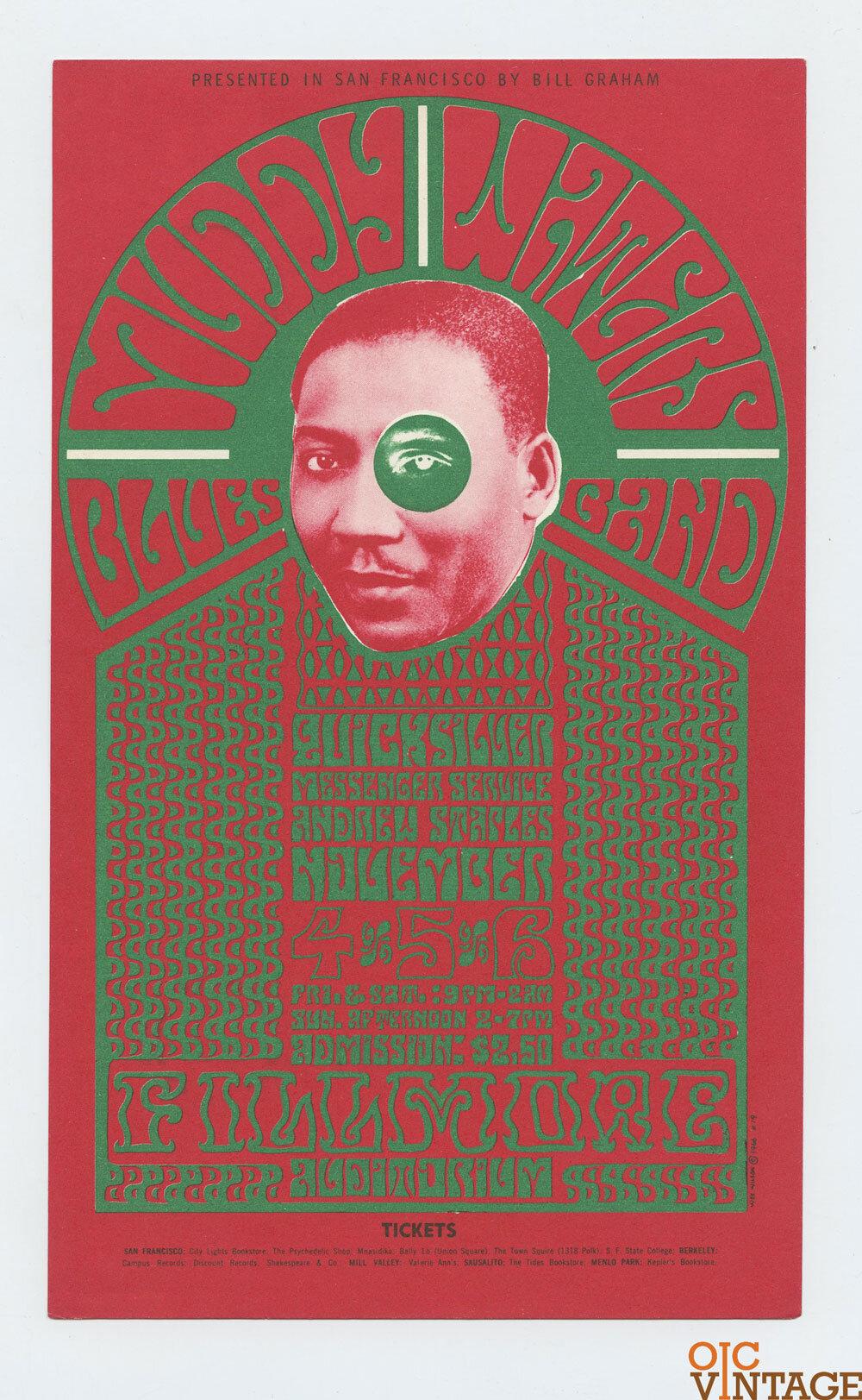 BG  35 Handbill Muddy Waters 1966 Nov 4