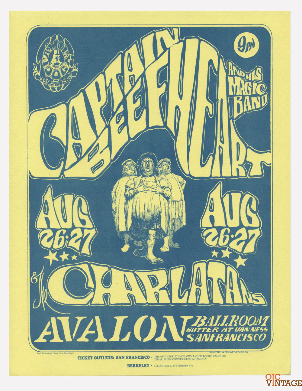 FD  23 Handbill Captain Beefheart 1966 Aug 26