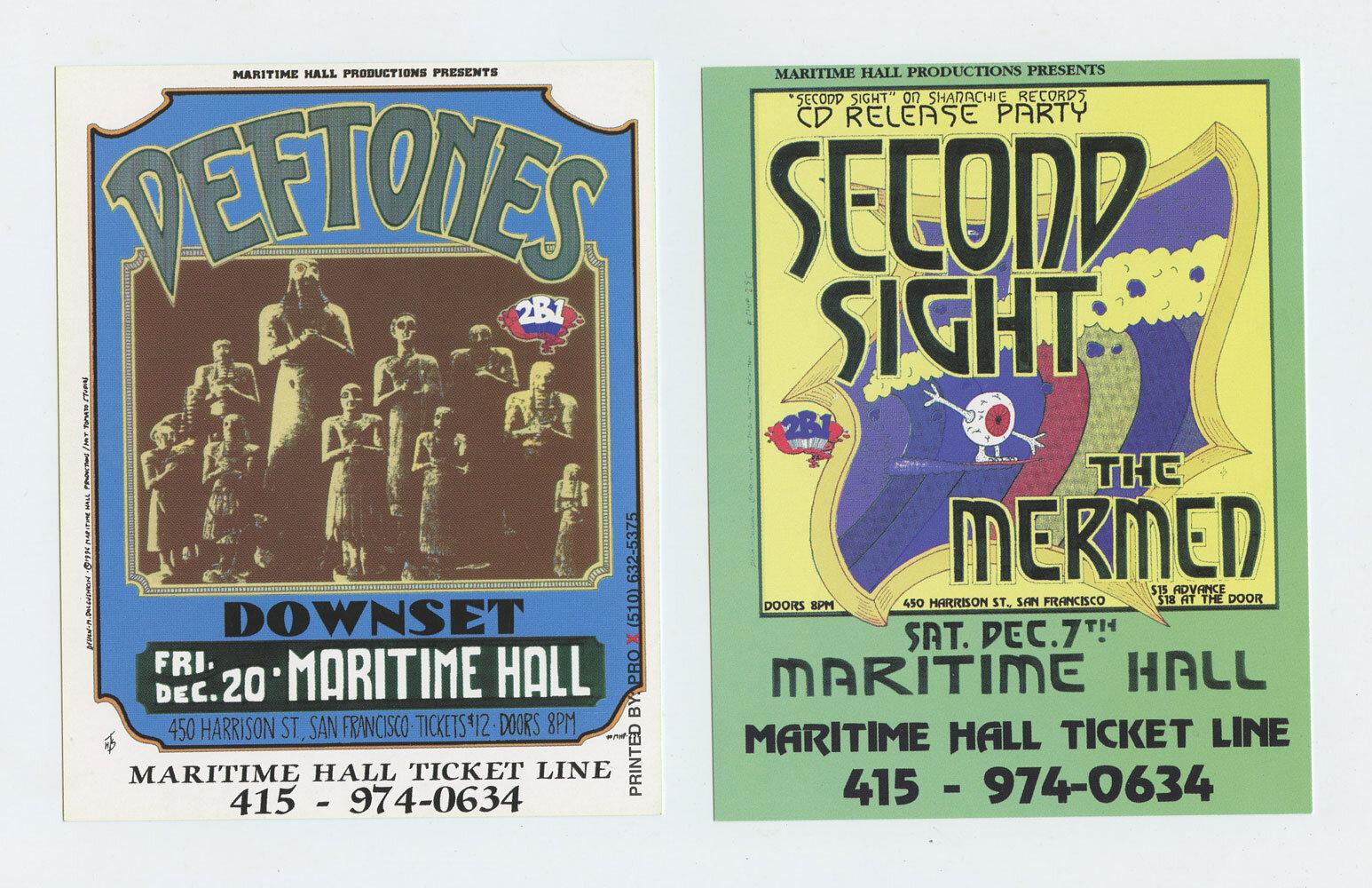 Maritime Hall 1996 Dec Flyer Deftones Second Sight