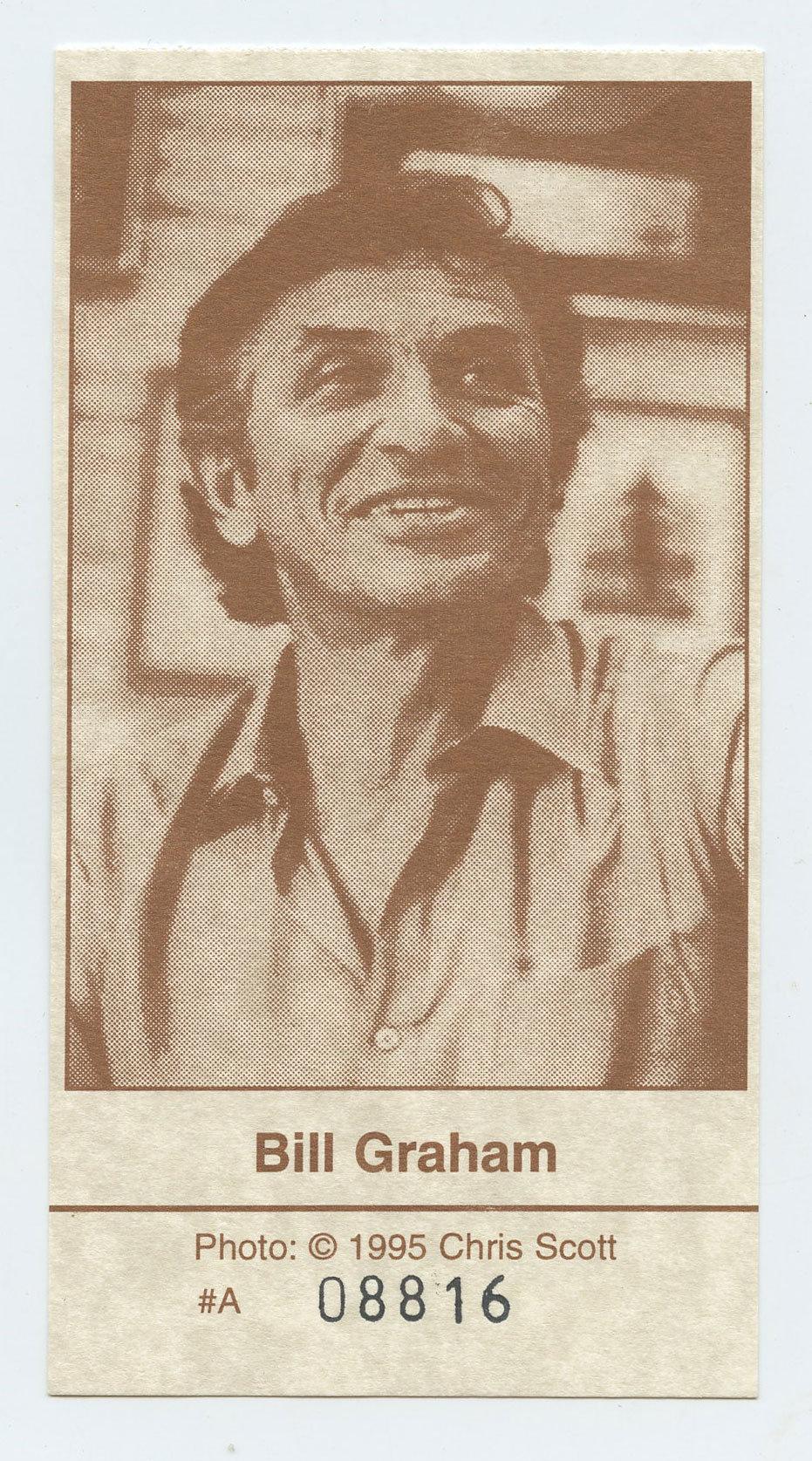 Bill Graham Memorial Ticket 1991 Nov 3 Laughter Love & Music Golden Gate Park