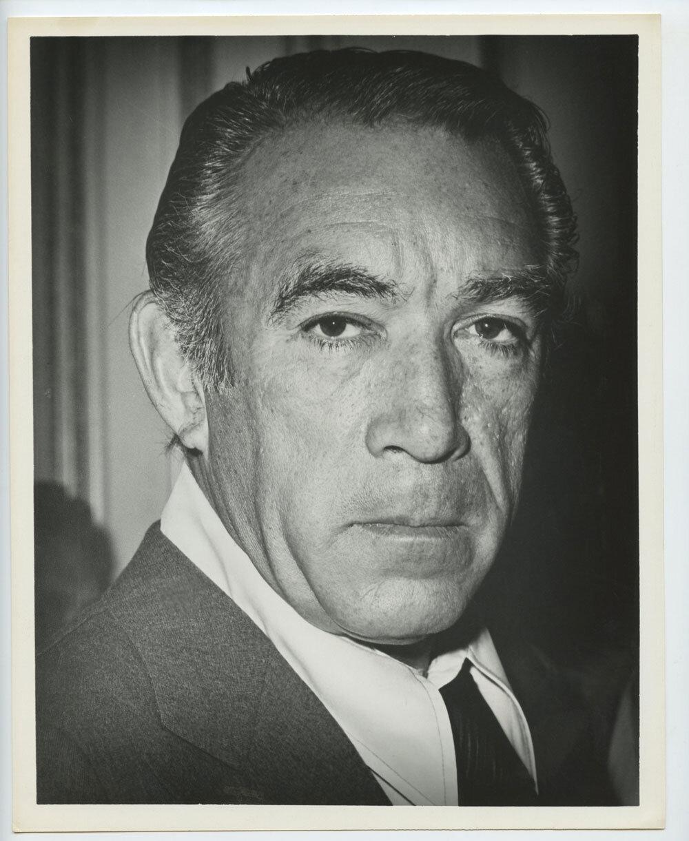Anthony Quinn Photograph 1950s Publicity Promo Original Vintage