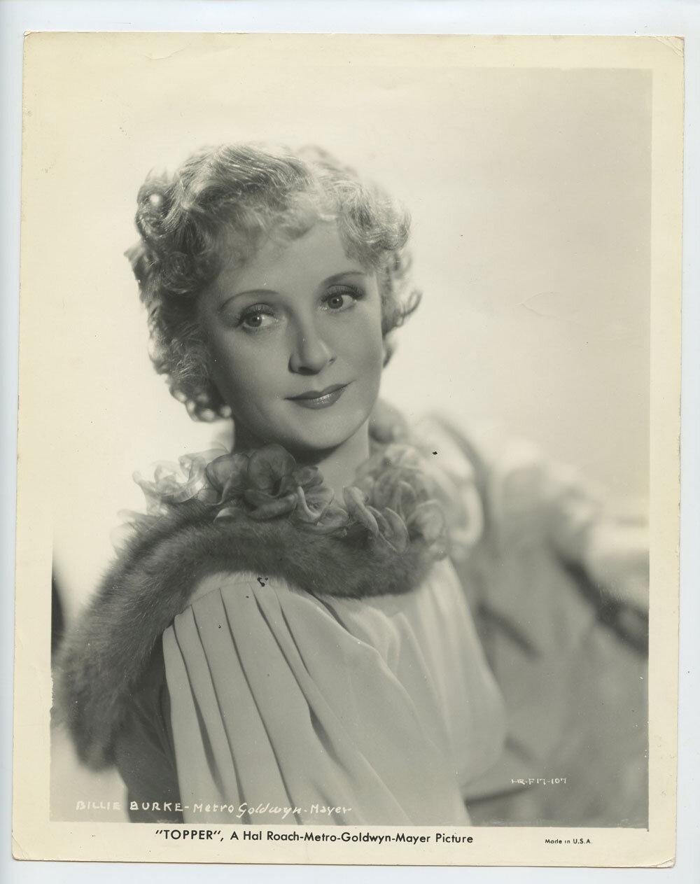 Billie Burke Photograph 1937 Topper Original Vintage