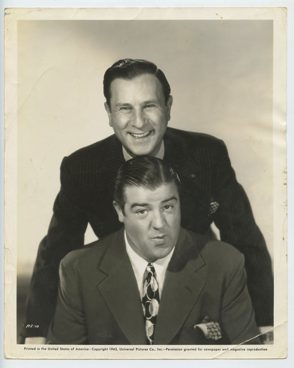 Abbot and Costello Photograph 1943 Universal Pictures Publicity Original Vintage