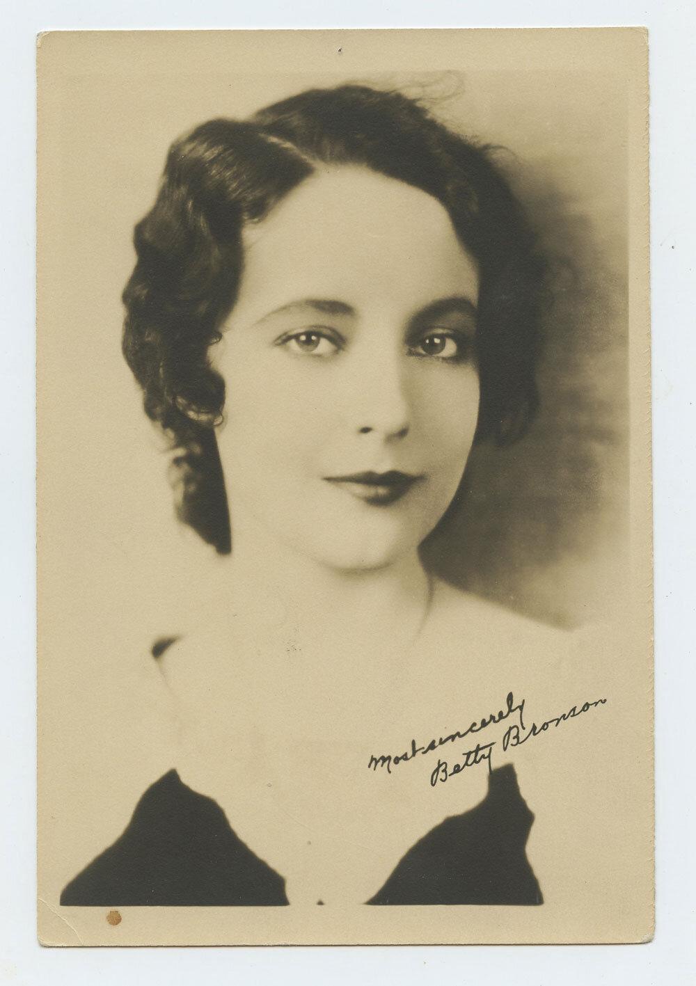 Betty Bronson Photograph 1920s Autographed Inscribed Original Vintage