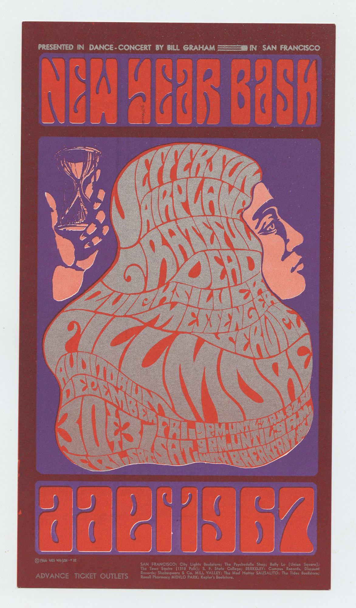 BG  37 Handbill Grateful Dead Jefferson Airplane 1966 Dec 30