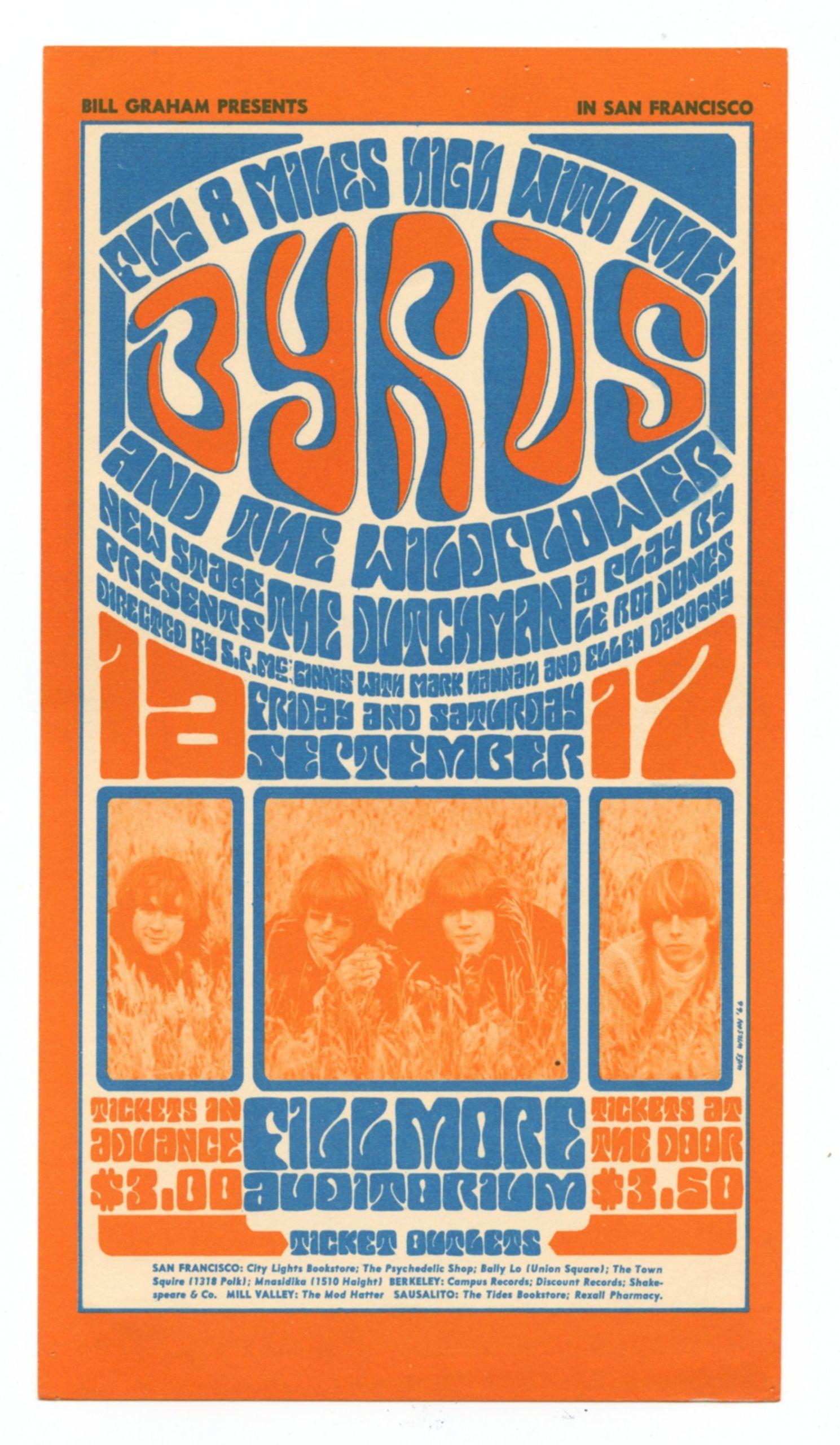 BG  28 Handbill The Byrds Wildflower 1966 Sep 16