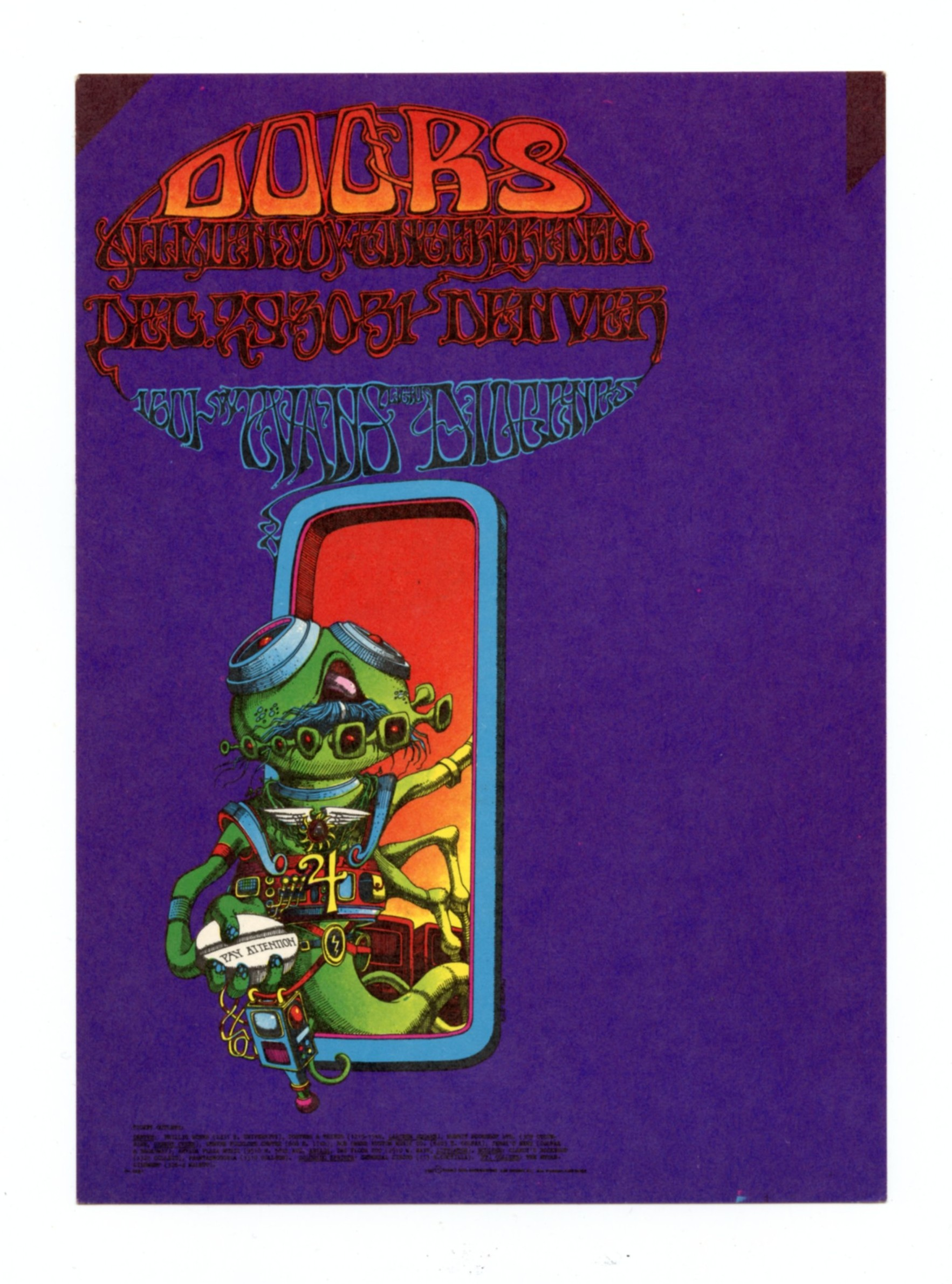 FDD 18 Postcard The Doors 1967 Dec 29
