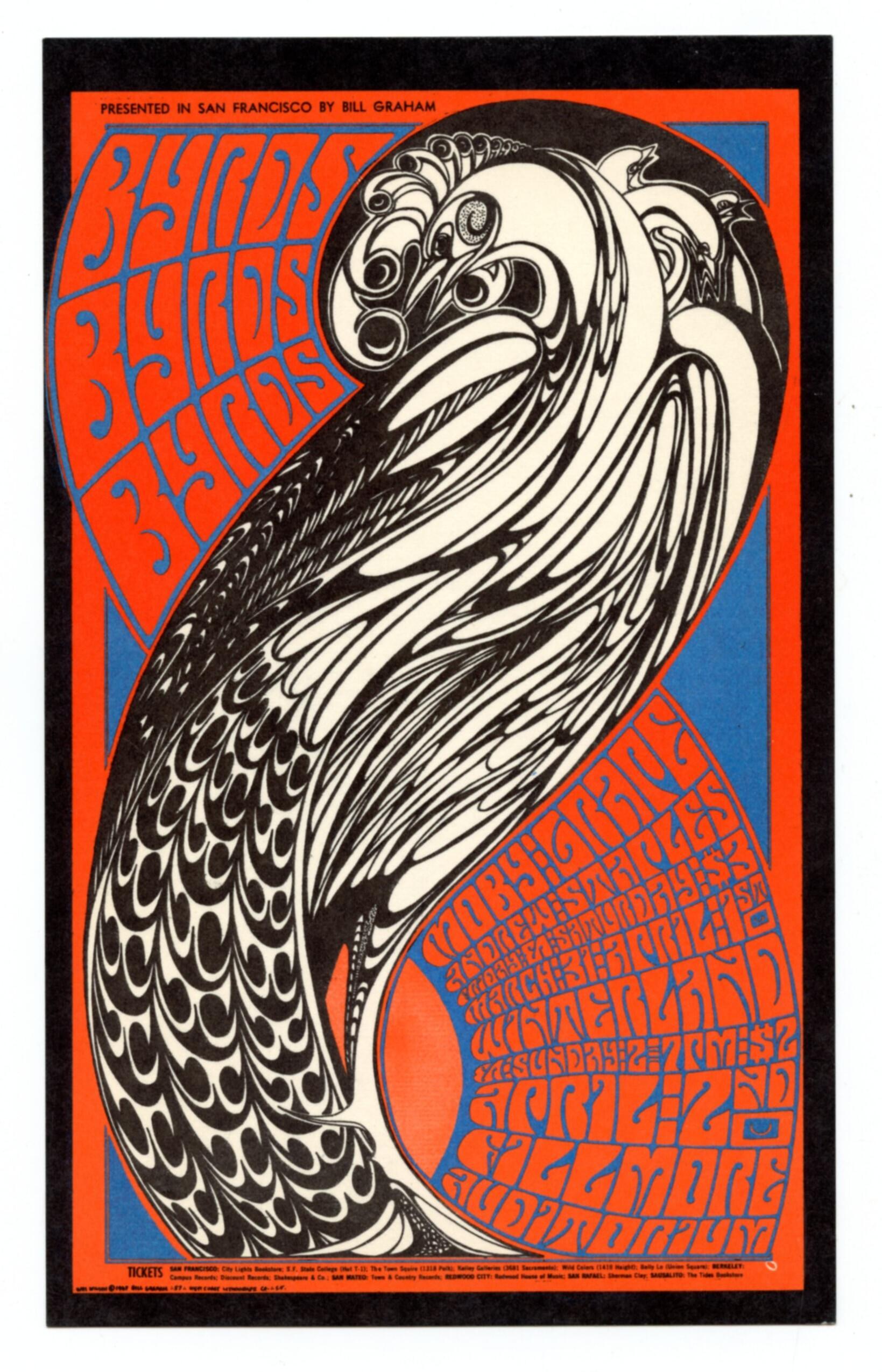 BG  57 Postcard Byrds Moby Grape Andrew Staples 1967 Mar 31