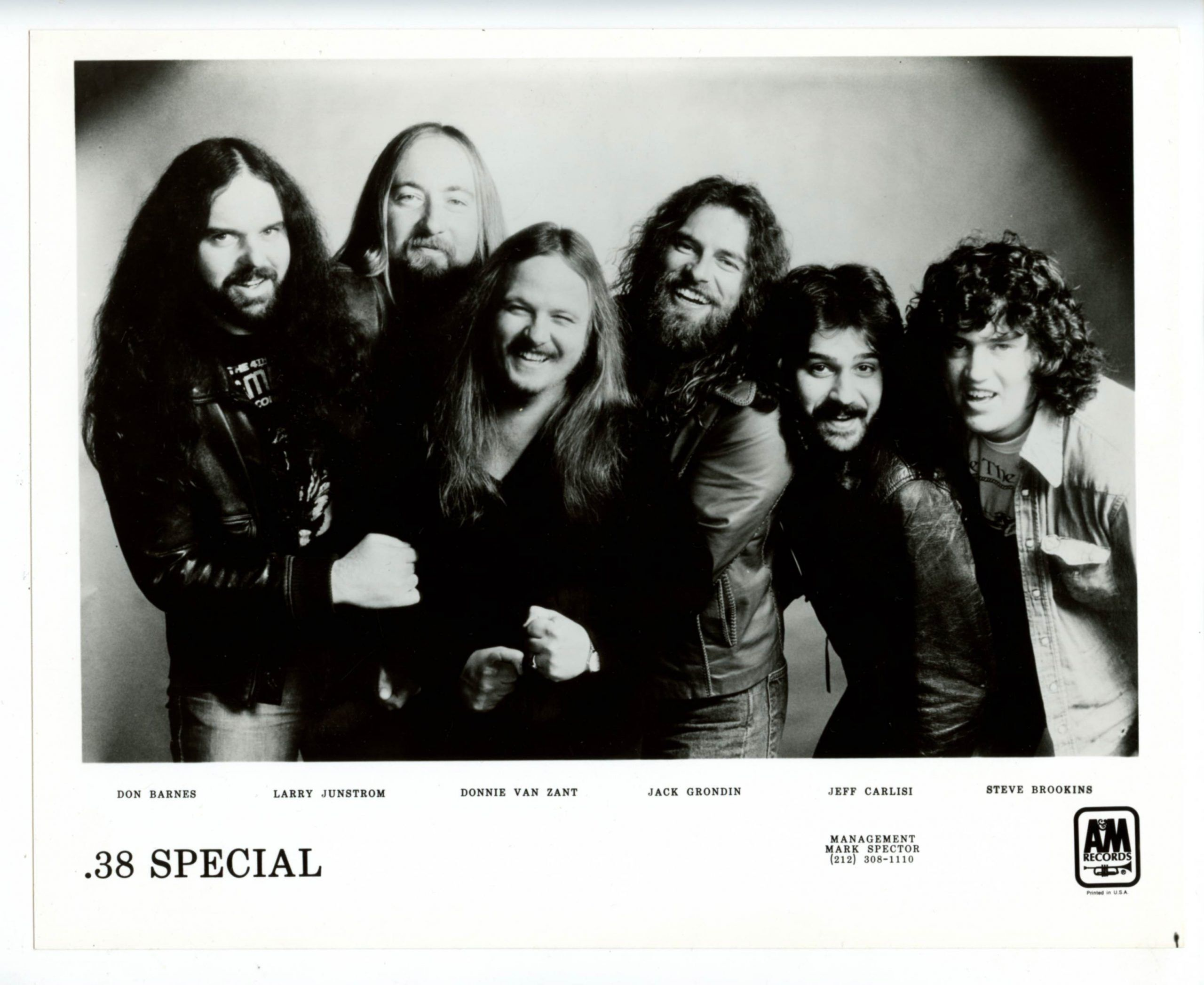 38 Special Photograph 1970s A&M Records
