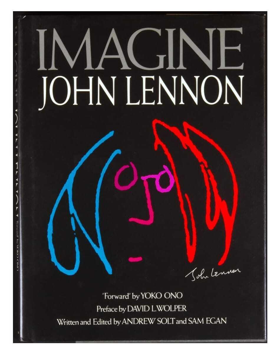 John Lennon Imagine Book 1988 Hard Cover Sam Egan David L Wolper Andrew Solt